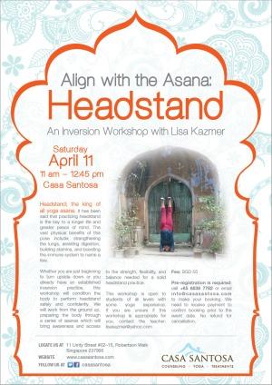 Align with the Asana: Headstand Workshop Singapore Yoga Inversion Shirsasana