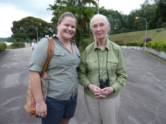 Lisa Kazmer and Jane Goodall