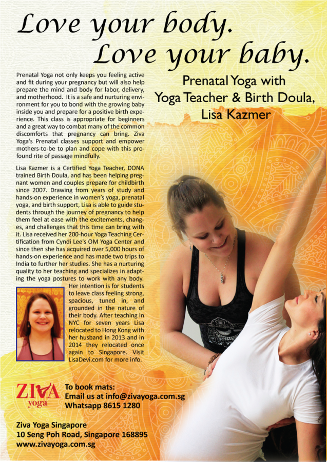 prenatal yoga at ziva yoga singapore tiong bahru