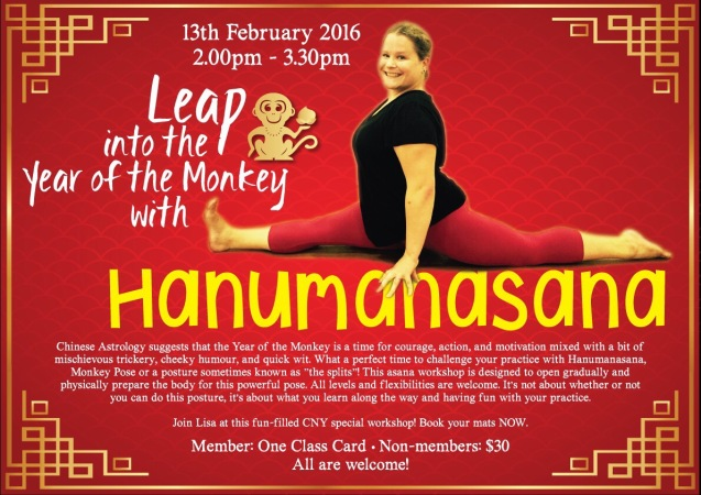 chinese new year yoga hanumanasana