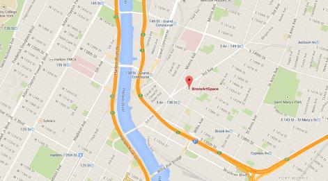 BronxArtsSpace Map