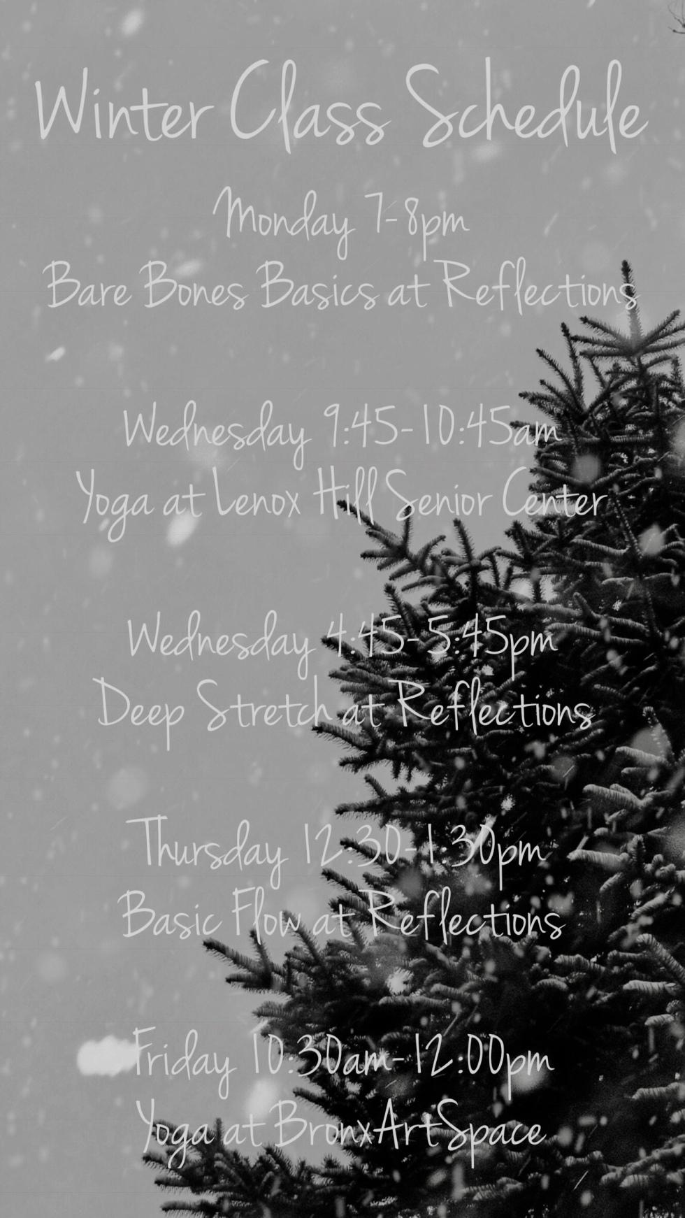 winter schedule