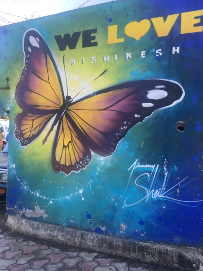We love Rishikesh Mural India Butterfly