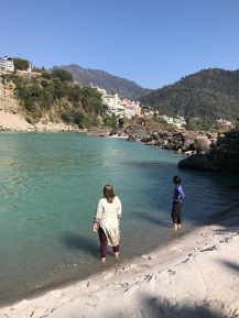 Swimming in Ganges Rishikesh